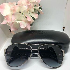 Coach aviator sunglasses (silver and gray)